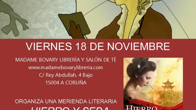 Merienda literaria Hierro y seda, A Coruña