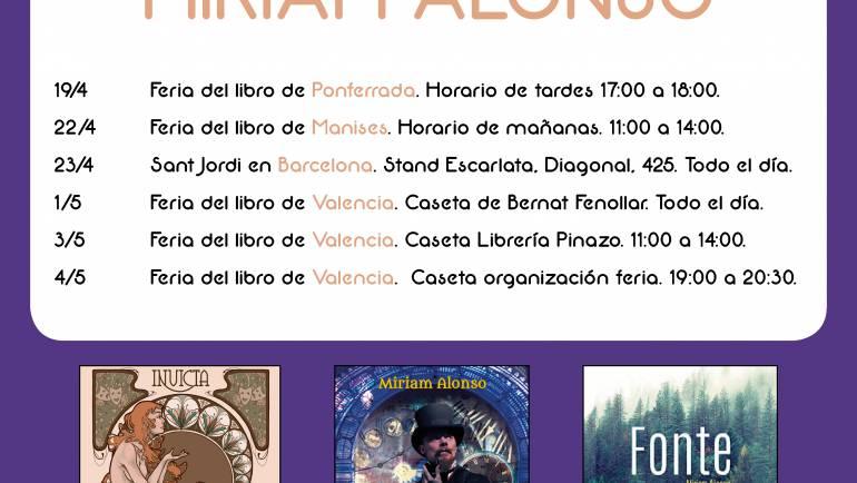 Eventos de Miriam Alonso