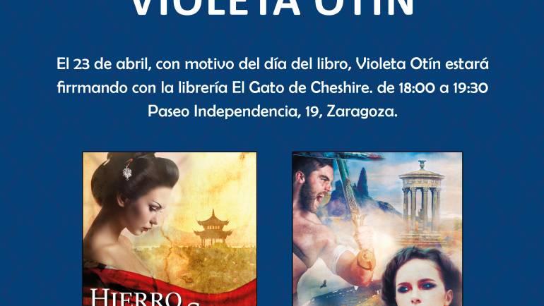 Día del libro con Violeta Otín, Zaragoza